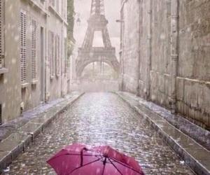 paris, rain, and umbrella image