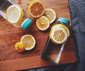 water, lemon, and healthy image