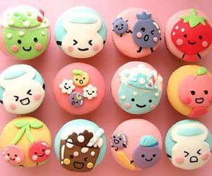 cupcakes, kawaii, and girls image