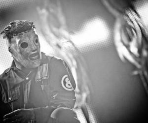 slipknot, black and white, and corey taylor image