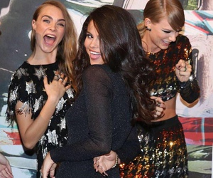 selena gomez, Taylor Swift, and cara delevingne image