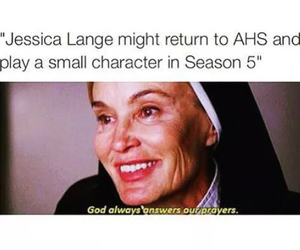 jessica lange, asylum, and funny image