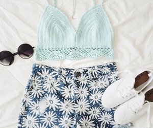 flowers, outfit, and style image