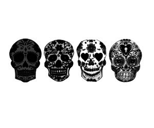 skull, art, and black image