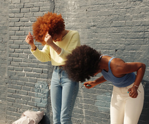 girl, Afro, and hair image