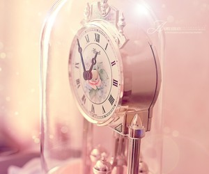 clock, pink, and style image
