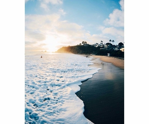 beach, hipster, and sea image