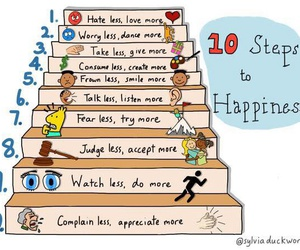 happiness and steps image