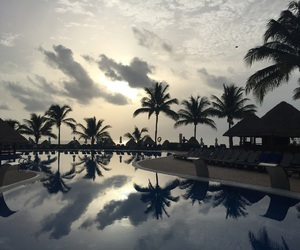 beautiful, cancun, and clouds image