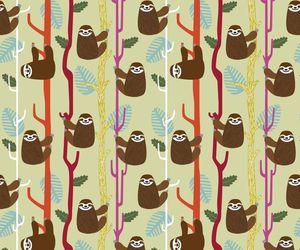 sloth, cute, and wallpaper image
