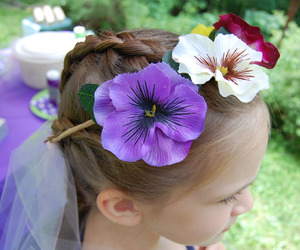 flower crown, flowers, and tumblr quality image
