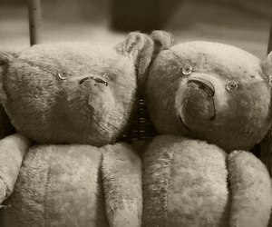 antique, teddy bears, and toy image