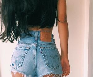 fashion, shorts, and hair image