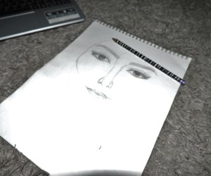 sketch, art, and drawing image