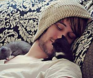 cat, cute, and boy image