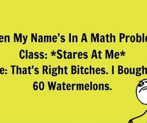 math, funny, and watermelon image