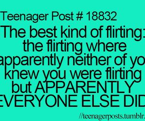 teenager post and flirting image