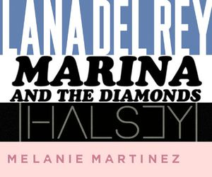 marina and the diamonds, halsey, and lana del rey image