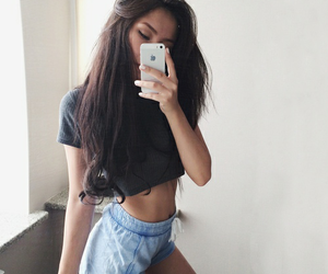 black, brunette, and clothes image