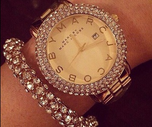 luxury, watch, and gold image