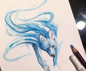 art, ice blue, and patronus image