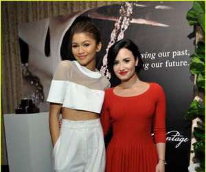 demi lovato, gala, and red dress image
