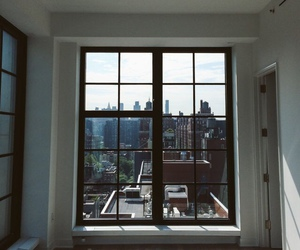 city, window, and apartment image