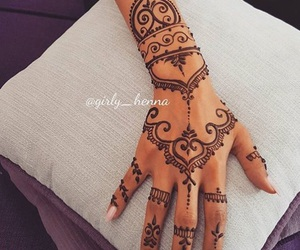 henna, nails, and beautiful image