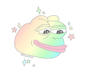 pepe, rainbow, and tumblr image
