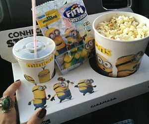 minions, food, and popcorn image