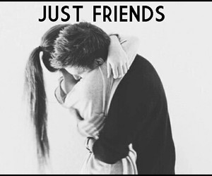 hug, just friends, and quotes image