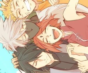 naruto, kakashi, and sasuke uchiha image