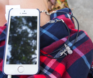 iphone, choker, and necklace image