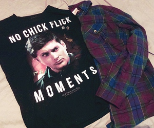 dean winchester, outfit, and plaid image