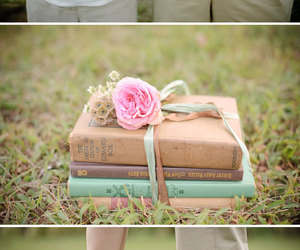books, gift, and couple image