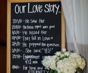 engagement, wedding, and love story image