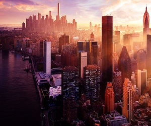 city, new york, and wallpaper image