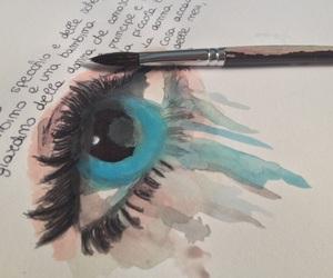art, black, and blue image