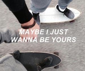 grunge, lyric, and skate image
