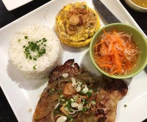 egg, rice, and salad image