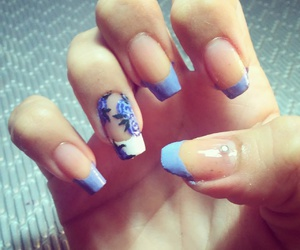 flowers, french, and nail art image