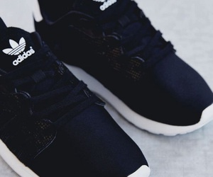 shoes, adidas, and black image