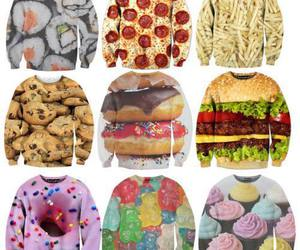 food, sushi, and sweater image