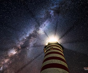 galaxy, lighthouse, and red image