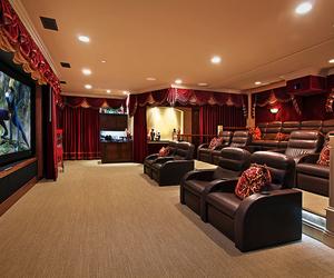 home, luxury, and cinema image