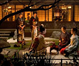 geisha, japanese garden, and memoirs of a geisha image