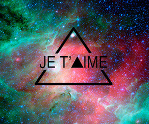 love, galaxy, and je t'aime image