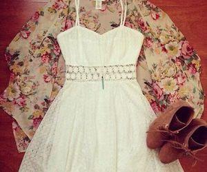 dress, white, and vestido image