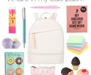 backpack, ice cream, and what's in my backpack image