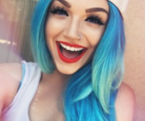 hair, blue, and makeup image